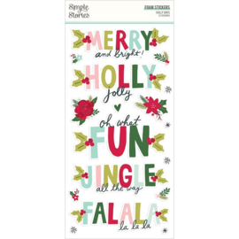 Simple Stories Holly Days Foam Stickers 53/Pkg
