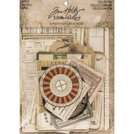 "Tim Holtz Idea-Ology Layers Cards 33/Pkg 1.5""X2"" To 4.5""X5.75"""