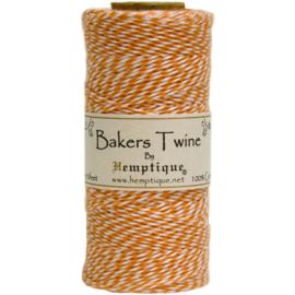 Hemptique Cotton Baker's Twine Spool 2-Ply 410' Orange
