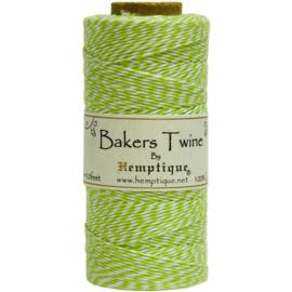 Hemptique Cotton Baker's Twine Spool 2-Ply 410' Lime