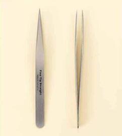 Pincet stainless steel fijne punt recht 12,5 cm