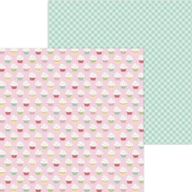 """Dooblebug Made With Love Double-Sided Cardstock 12""""X12"""" Cupcake Cuties"""