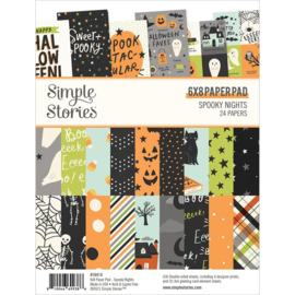 """Simple Stories Double-Sided Paper Pad 6""""X8"""" 24/Pkg Spooky Nights preorder"""