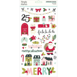 """Simple Stories Holly Days Chipboard Stickers 6""""X12"""""""