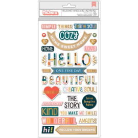 Paige Evans Bungalow Lane Thickers Stickers 79/Pkg Home Sweet Home Phrase preorder