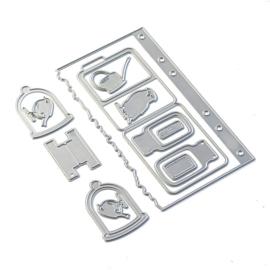Elizabeth Craft Designs  Sidekick Essentials 17 - Window Folder Set 1839