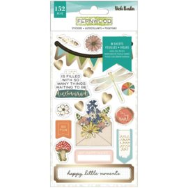 Vicki Boutin Fernwood Sticker Book W/Gold Foil 152/Pkg preorder