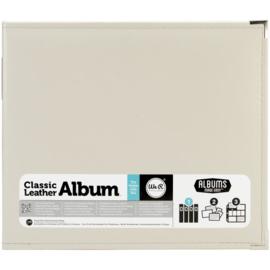 "We R Classic Leather D-Ring Album 12""X12"" Greige"