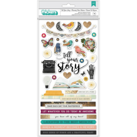 Vicki Boutin Storyteller Thickers Stickers 73/Pkg Phrase & Words, W/Gold Foil Accents