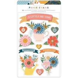 Paige Evans Bungalow Lane Dimensional Stickers 12/Pkg Banners preorder