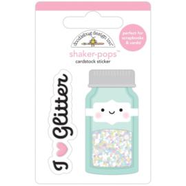 Doodlebug Shaker-Pops 3D Stickers Glitter Jar preorder