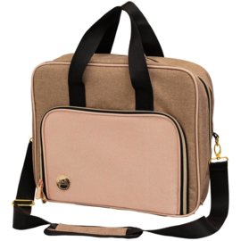 We R Memory Keepers Crafter's Shoulder Bag Taupe & Pink