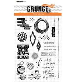Studio Light SL-GR-STAMP43 - SL Clear Stamp Elements Grunge Collection nr.43