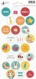 Piatek13 - Sticker sheet Party Happy Birthday 02 P13-421 10,5x23 cm