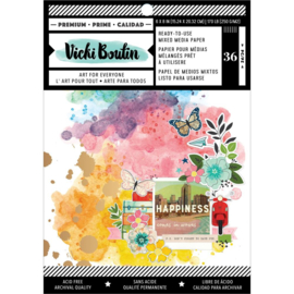 "Vicki Boutin Mixed Media Backgrounds Paper 6""X8"" 36/Pkg Let's Wander preorder"