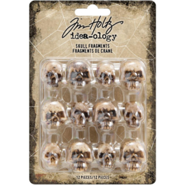 Tim Holtz Idea-Ology Resin Skull Fragments 12/Pkg 4 Designs/3 Each
