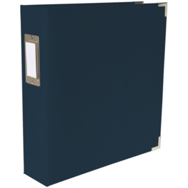"""We R Paper Wrapped D-Ring Album 8.5""""X11"""" Navy"""