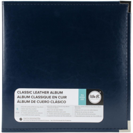 "We R Classic Leather D-Ring Album 8.5""X11"" Navy"