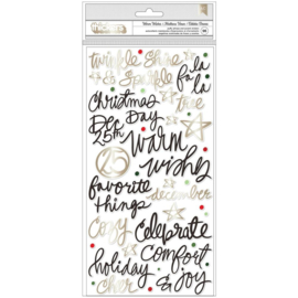 Vicki Boutin Warm Wishes Thickers Stickers 96/Pkg Warm Wishes Phrases/Puffy Preorder