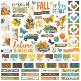 """Simple Stories Simple Vintage Country Harvest Cardstock Stickers 12""""X12"""" Combo"""