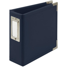 """We R Classic Leather D-Ring Album 4""""X4"""" Navy PREORDER"""