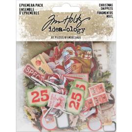 Tim Holtz Idea-Ology Ephemera Pack 81/Pkg Snippets Tiny Die-Cuts/Christmas