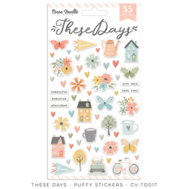 Cocoa Vanilla CV-TD017 THESE DAYS – PUFFY STICKERS  preorder
