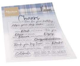 Marianne D Clear Stamps Cheers by Marleen (ENG) CS1057