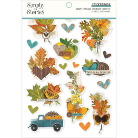 Simple Stories Sticker Book 12/Sheets Simple Vintage Country Harvest preorder