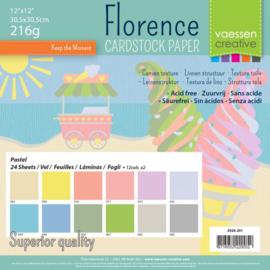 Florence • Cardstock multipack 30,5x30,5cm Pastel
