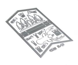 Elizabeth Craft Designs Planner Essentials 13 - Xmas Winter Insert