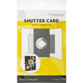 "Photoplay Shutter Card W/Die Makes 3, Includes 2.25"" Circle Die"