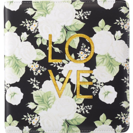 "Webster's Pages Color Crush Small Creative Photo Album 8.5""X9""X2"" Black Floral"