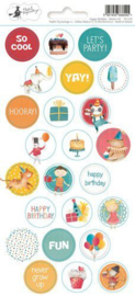 Piatek13 - Sticker sheet Happy Birthday 03 P13-419 10,5x23 cm