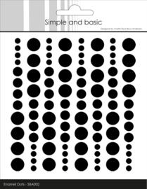 Simple and Basic Adhesive Enamel Dots Jet Black (96pcs)