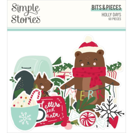 Simple Stories Holly Days Bits & Pieces Die-Cuts 60/Pkg