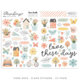 Cocoa Vanilla CV-TD018 THESE DAYS – CLEAR STICKERS preorder