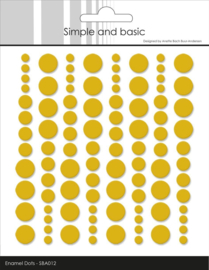 Simple and Basic Adhesive Enamel Dots Mustard (96 pcs)