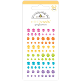 Doodlebug Adhesive Mini Jewels Spring Assortment
