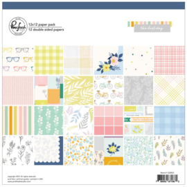 """PinkFresh Studio Double-Sided Paper Pack 12""""X12"""" 12/Pkg The Best Day, 12 Designs/1 Each"""