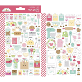 Dooblebug Mini Cardstock Stickers 2/Pkg Made With Love Icons