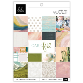 "Heidi Swapp Single-Sided Paper Pad 6""X8"" 36/Pkg Care Free PREORDER"