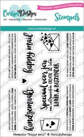 CarlijnDesign Stempels Happy Mail (CDST-0026)