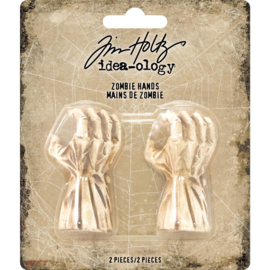 "Tim Holtz Idea-Ology Mini Zombie Hands 2""X.75"" 2/Pkg"