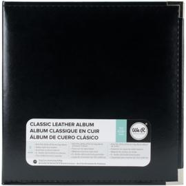 """We R Classic Leather D-Ring Album 8.5""""X11"""" Black"""