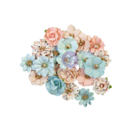 Prima Marketing Mulberry Paper Flowers Christmas Lights/Christmas Sparkle