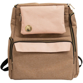 We R Memory Keepers Crafter's Backpack Taupe & Pink
