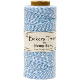 Hemptique Cotton Baker's Twine Spool 2-Ply 410' Light Blue
