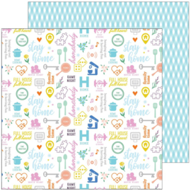 """Pinkfresh Let's Stay Home Double-Sided Cardstock 12""""X12"""" Stay Home"""