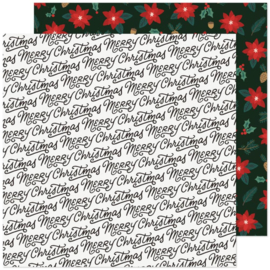 """Crate Paper Busy Sidewalks Double-Sided Cardstock 12""""X12"""" Christmas Greetings"""